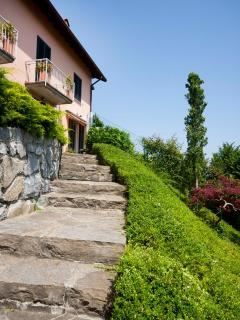 Stairway to the property