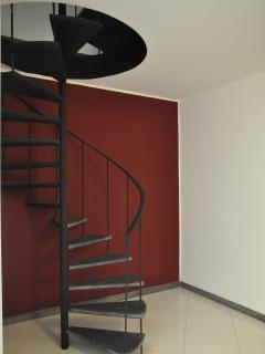 Stairs to reach the loft