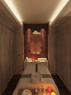 Private spa room in unit