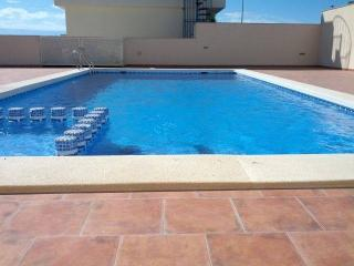 Stunning 3 bed 2 story apartment. Pool, sea views., Puerto de Mazarron