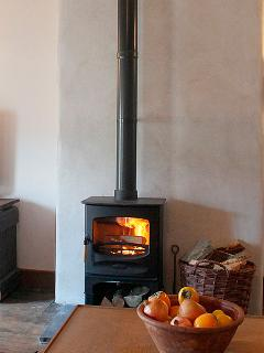 Cosy up in the winter months with our wood burning stove.