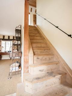 Stairs to guest bedrooms