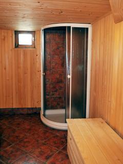 shower in the sauna room