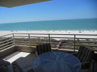 Serene Sunset views of the beautiful Gulf of Mexico from the balcony of this pri