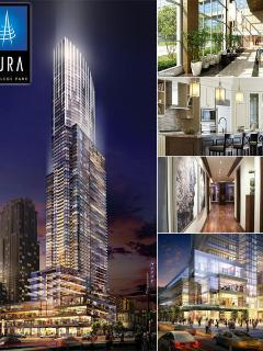 Brand new luxury building in downtown Toronto.