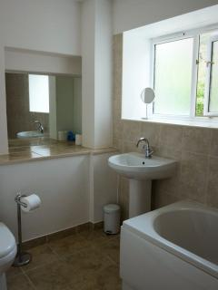 One of two newly refurbished bathrooms