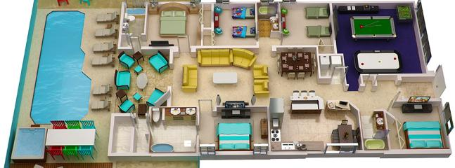 3D Floorplan shows you the exact layout of all the rooms
