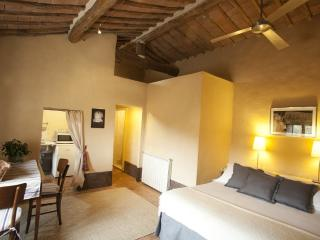 One bedroom apartment in Tuscan villa with pool, San Galgano Abbey, Siena.