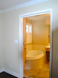 Master bath with huge whirlpool tub