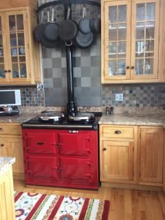 Aga cooker in kitchen