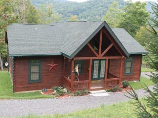 New Log Cabin!!! ...Perfect Location. Gas Logs, Views, Hiking., Burnsville