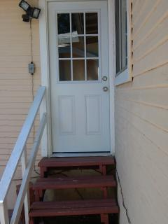 Private entrance to the house