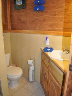 Bathroom with vanity sink