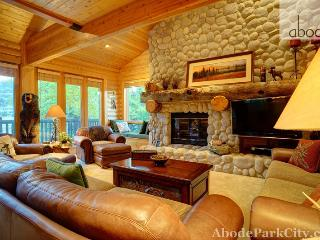 Hand-Peeled Pine Walls and 3 Fireplaces make this Deer Valley a winner!