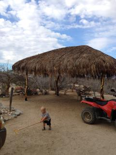 Our Palapa, a great place to enjoy a hammock & a book.