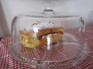 The very popular homemade Victoria Sandwich Cakes awaits