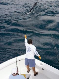 Fishing in the pacific ocean