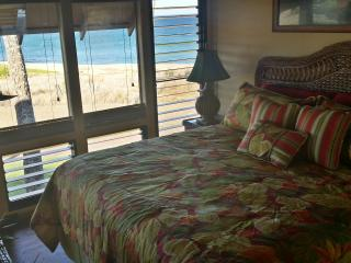 Beautiful master bedroom that opens onto the lanai