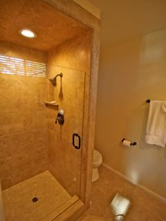 Custom shower in master bathroom
