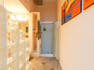 Master Bathroom, full shower and jacuzzi jet tub