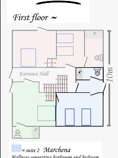 Suite 2 (Marchena) position within the villa