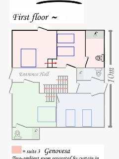 Suite 3 (Genovesa) position within the villa
