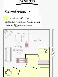 Suite 4 (Pinzon) position within the villa
