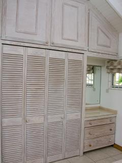 bedroom closets and vanity