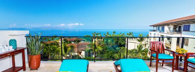 Stunning Panoramic Ocean Views From K507 Wailea Seashore Suite Located on the TOP (5th Floor) of Wailea Beach Villas