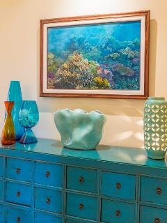 Original Artwork and Decor by Maui's most celebrated artists. This photo showcases an original oil painting in a new...