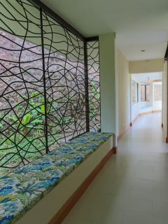 Hallway to Living and Dining area from bedrooms