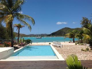 Out of the Blue Beach House - Jolly Harbour, Antigua - Beachfront, Gated