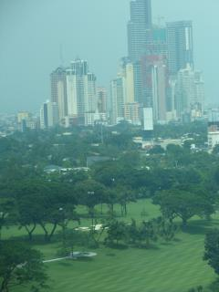 View from unit to Manila Golf & Country Club and Makati skyline
