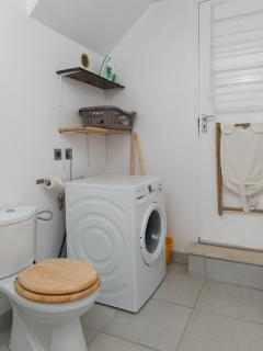 Laundry with toilet