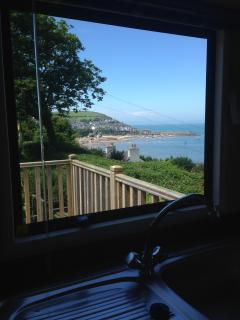 Views to right of New Quay from Kitchen Sink