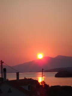 sun rise from the villa