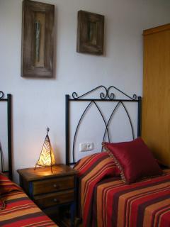 Casa Rosa Second Bedroom.  Twin Beds & Wardrobe.