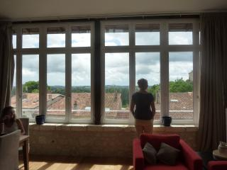 looking out from the sitting room