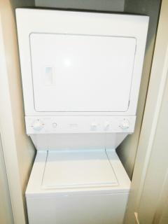 Washer and dryer located upstairs