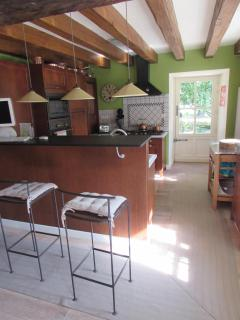 Bar Stand and Open Kitchen behind