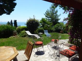 Eze Villa with Sea View, Pool, Garden, Parking, Close to Monaco