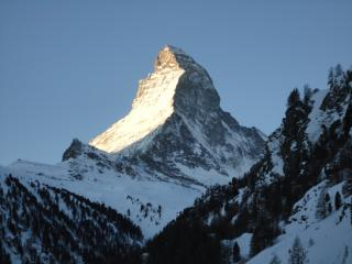 Stunning view of the Matterhorn apartment, Zermatt
