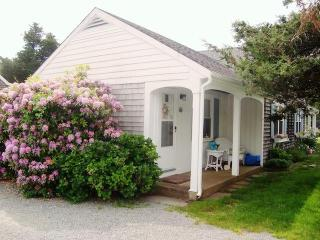 Side picture - pretty window boxes and flowers - 767 Route 28 #9 Harwich Port Cape Cod New England Vacation Rentals
