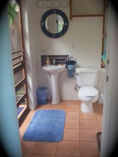 Sweet Little Loo with Outdoor Hot Shower