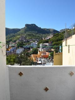 VIEW TO CERRO FROM PRIVATE TERRAZA SECOND FLOOR