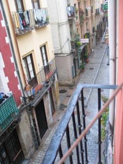Vistas de la calle desde el balcón
