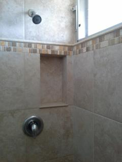 Fully tiled walk in shower