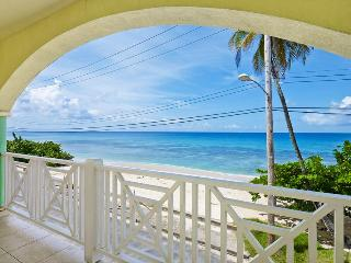 A wonderful opportunity to vacation in this beachfront duplex on the West Coast of the island with spacious living area and balcony, Speightstown