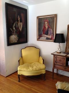 original art and antiques throughout...