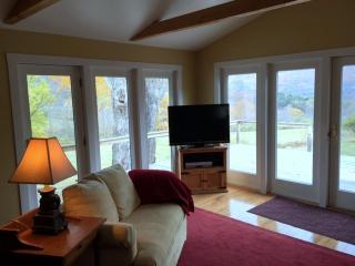 Den with french doors to deck & great views